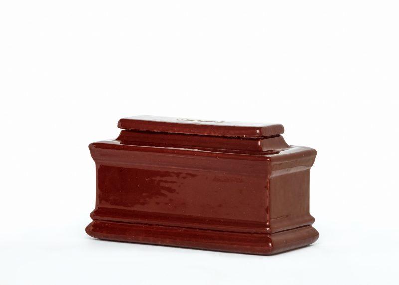 Керамична урна за кремация Хоризонт Кафява