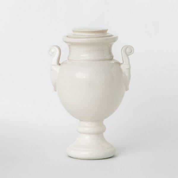 Урна за кремация Амфора Бяла